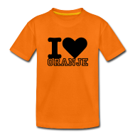 Shirts ~ Teenager Premium T-shirt ~ I love Oranje - Kinder Shirt