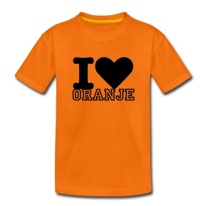 I love Oranje - Kinder Shirt - Teenager Premium T-shirt