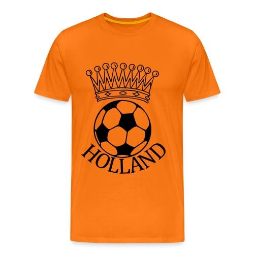 Men: Kroon bal Holland zwart t-shirt - Mannen Premium T-shirt