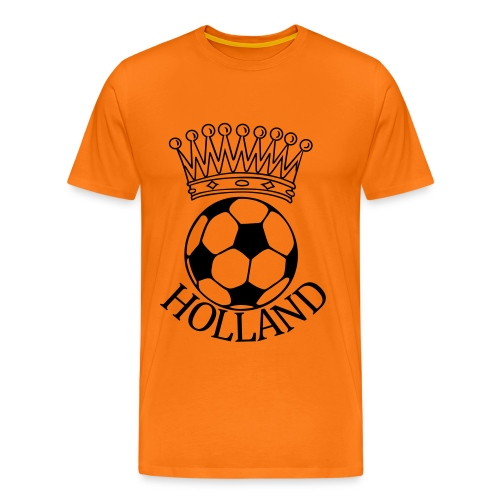 Men: Kroon bal Holland zwart t-shirt - Mannen Premium T-shirt