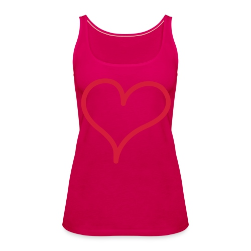 Womens Heart Tank - Women's Premium Tank Top
