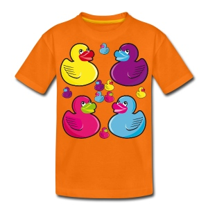 12 Quitschenten Rubber Duck Kinder Shirt - Teenager Premium T-Shirt