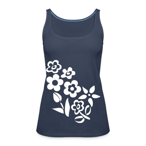 Big flowers blue strappy top - Women's Premium Tank Top