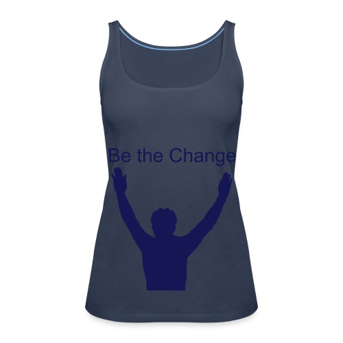 Be the Change Homme debout version bleue - Women's Premium Tank Top