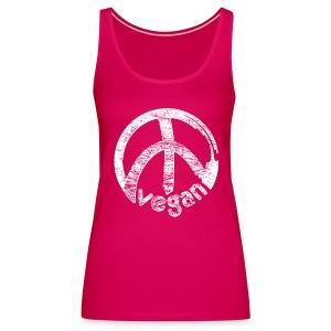Womens Tank-Top 'vegan peace' - Frauen Premium Tank Top