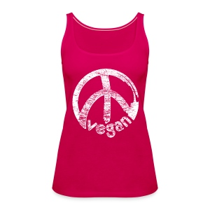 Womens Tank-Top 'vegan peace' - Frauen Premium Tank Top