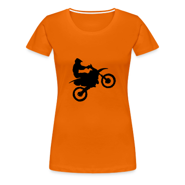 Golden orange Motocross - MX Women's T-Shirts