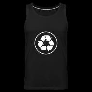 Tanktops ~ Mannen Premium tank top ~ Recycle circle