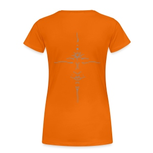 OM / India-Face (silver-matte) - T-Shirt - Frauen Premium T-Shirt