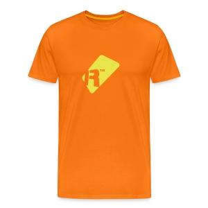 Men's T-Shirt - Yellow Renoise Tag - Men's Premium T-Shirt