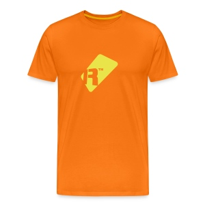 Men's T-Shirt - Yellow Renoise Tag - Men's Premium T-Shirt