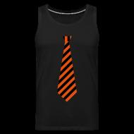Sportkleding ~ Mannen Premium tank top ~ Stropdas streep oranje