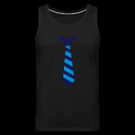 Sportkleding ~ Mannen Premium tank top ~ Stropdas streep blauw