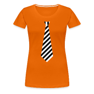 T-shirts ~ Vrouwen Premium T-shirt ~ Stropdas streep zwart