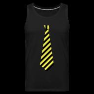 Sportkleding ~ Mannen Premium tank top ~ Stropdas streep geel