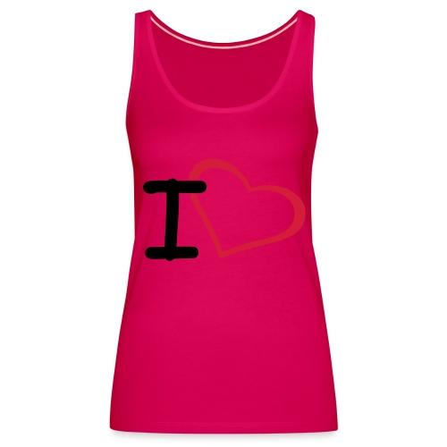 I Love - Vrouwen Premium tank top