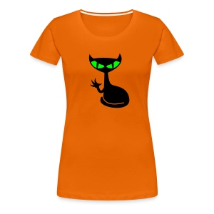 Catfight - orange girlieshirt - Frauen Premium T-Shirt