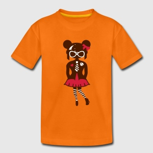 Orange Gothique Lolita T-shirts Enfants - T-shirt Premium Ado