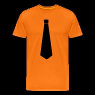 T-shirts ~ Mannen Premium T-shirt ~ Stropdas zwart