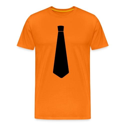 Stropdas zwart - Mannen Premium T-shirt