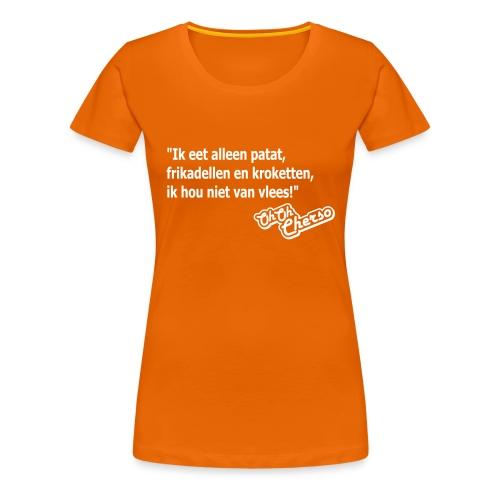 Vrouwen: Geen vlees - Vrouwen Premium T-shirt