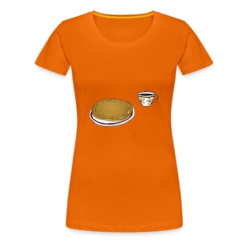 Kaffitrøya02, jente - Premium T-skjorte for kvinner