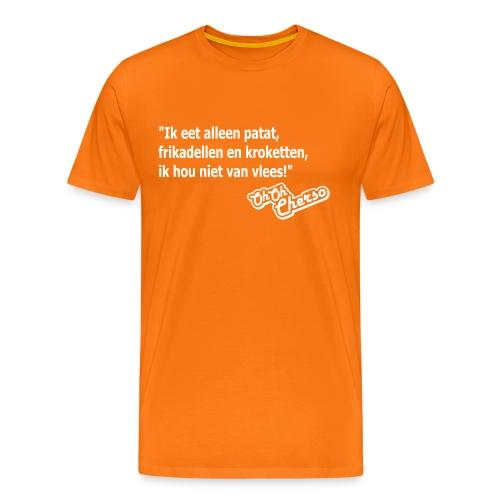Mannen: Geen vlees - Mannen Premium T-shirt