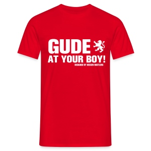 GUDE AT YOUR BOY! T-Shirt, red - Männer T-Shirt