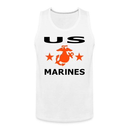 us marines - Mannen Premium tank top