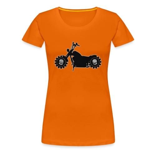 Totenkopf Bike - Frauen Premium T-Shirt