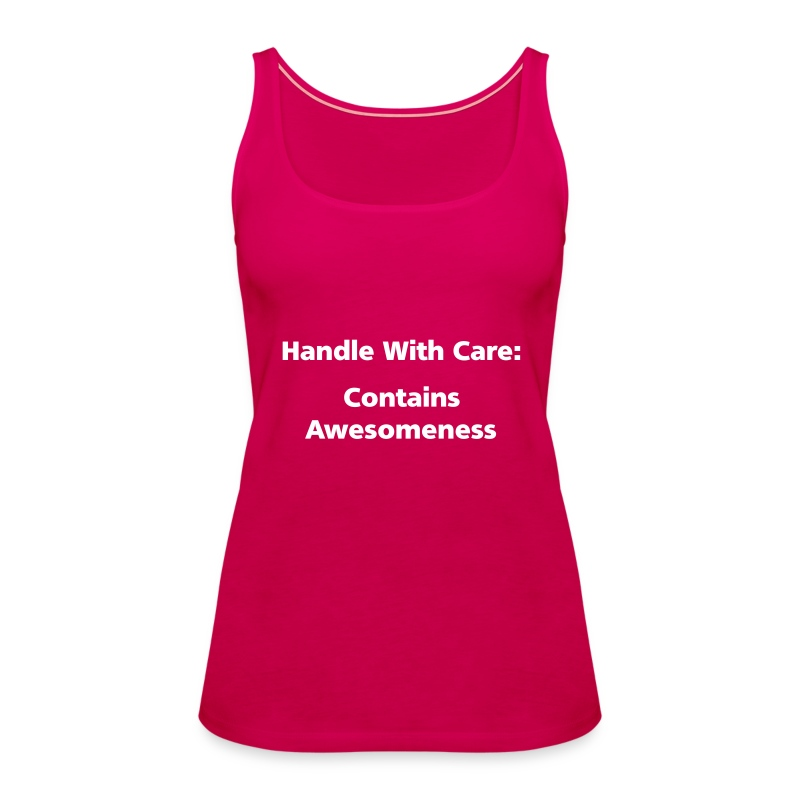 SPAGHETTI VEST: Handle with care - Women's Premium Tank Top