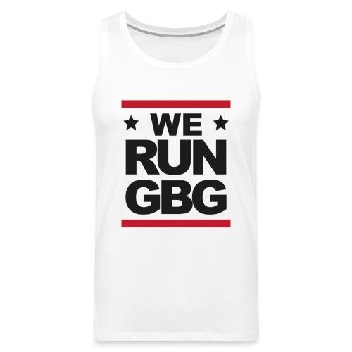 We run(dmc) GBG - svart tryck - Premiumtanktopp herr