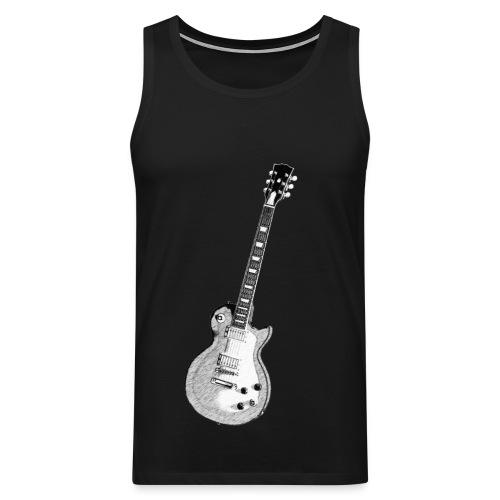 Muscle guitar - Miesten premium hihaton paita