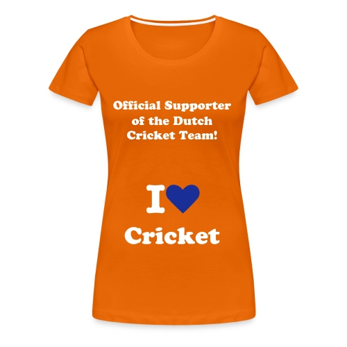 I love Cricket - Orange Ladies shirt - Vrouwen Premium T-shirt
