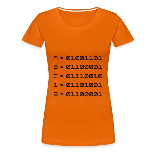 Maria in ASCII - Women's Premium T-Shirt