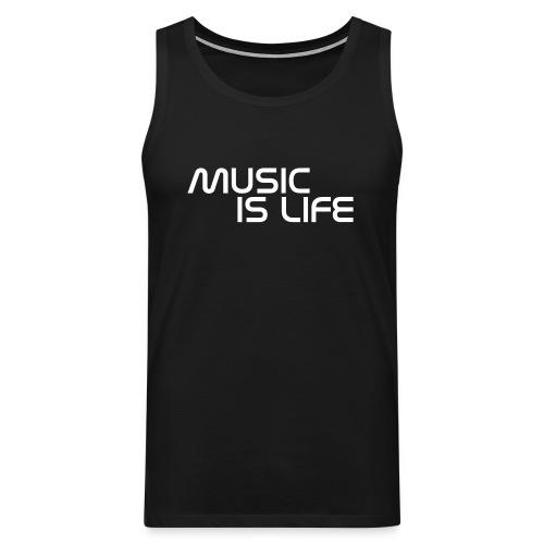 Music Is Life Singlet - Premium singlet for menn