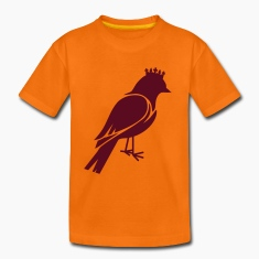 Bird silhouette with crown Kids' Shirts