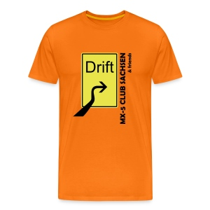 Club T-Shirt Motiv Drift orange - Männer Premium T-Shirt