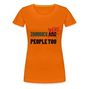 The walking dead - zombies were people too - chica manga corta - Camiseta premium mujer