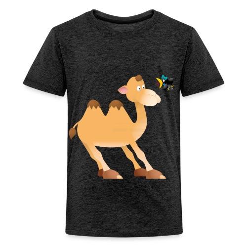Kid's Classic T-shirt camel and bird - Teenage Premium T-Shirt