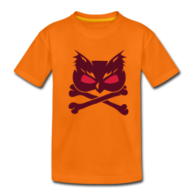 Owl Skull with crossbones Kids' Shirts