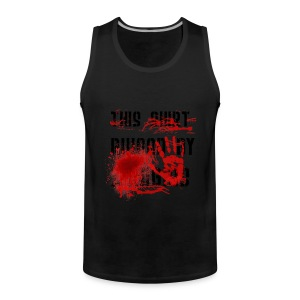 This Shirt ruined by Zombies, Dieses T-shirt wurde von Zombies ruiniert T-Shirts - Männer Premium Tank Top