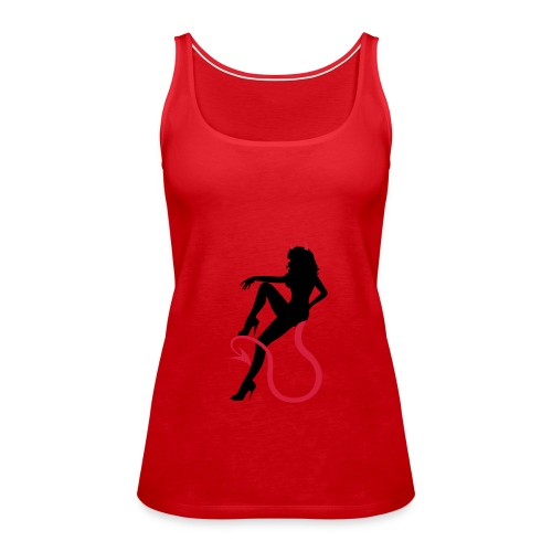 womens spaghetti vest devil women - Women's Premium Tank Top