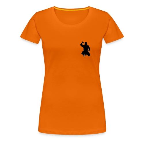 Damen T-Shirt kniender Ninja, farbig - Frauen Premium T-Shirt