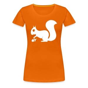 Damen Shirt Eichhörnchen weiss Tiershirt Shirt Tiermotiv - Frauen Premium T-Shirt