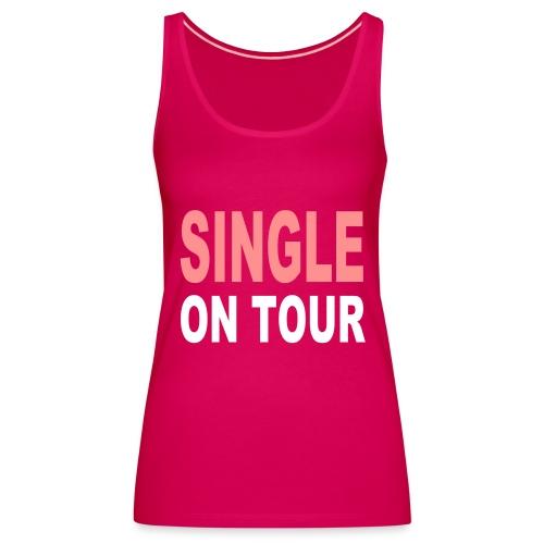 womens spaghetti single on tour - Women's Premium Tank Top