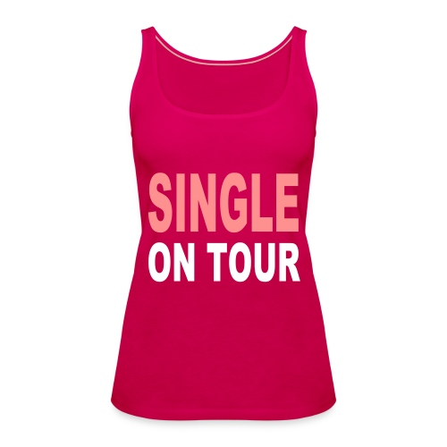 womens spaghetti single on tour - Women's Premium Tank Top