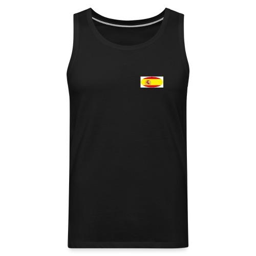 Men's sleeve less Shirt with Spain flag logo - Men's Premium Tank Top