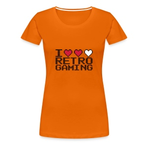 Love Retro Gaming - Hearts - Women's Premium T-Shirt
