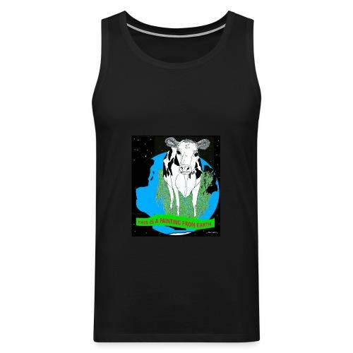 heren shirt koe  - Mannen Premium tank top